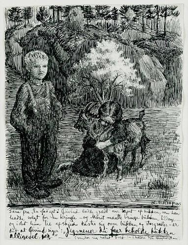 Bj. Bjornson, Scene From  A Happy Boy(1) By Nicolai Astrup