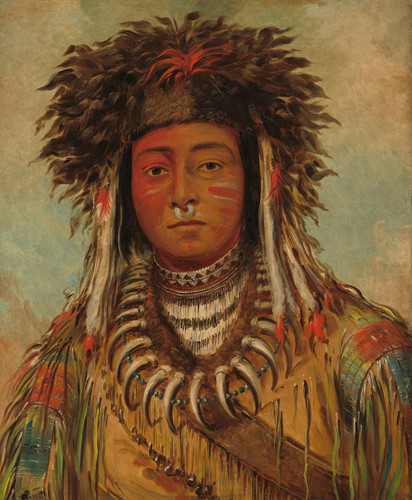 Boy Chief   Ojibbeway By George Catlin