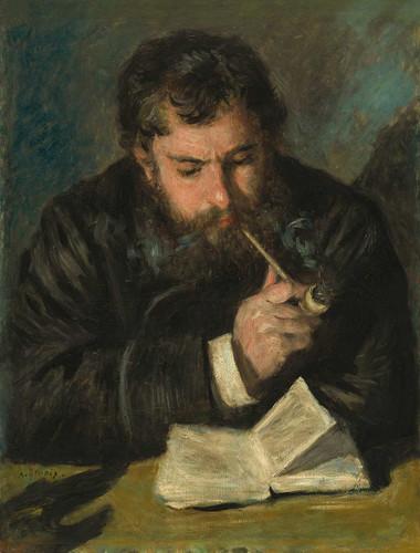 Claude Monet By Auguste Renoir