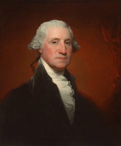 George Washington (Vaughan Sinclair Portrait) By Gilbert Stuart