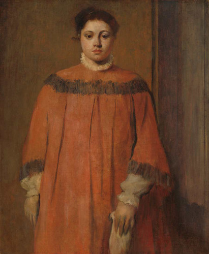 Girl In Red By Edgar Degas