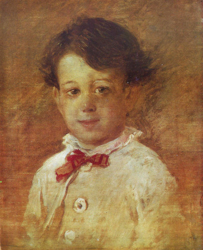 Portrait Of A Boy 1 By Nikolai Nikolaevich Ge
