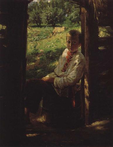 Portrait Of A Boy By Nikolai Nikolaevich Ge