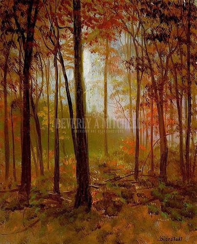 The Red Woods by Albert Bierstadt