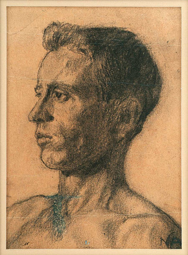 Study   Young Man's Head By Nicolai Astrup
