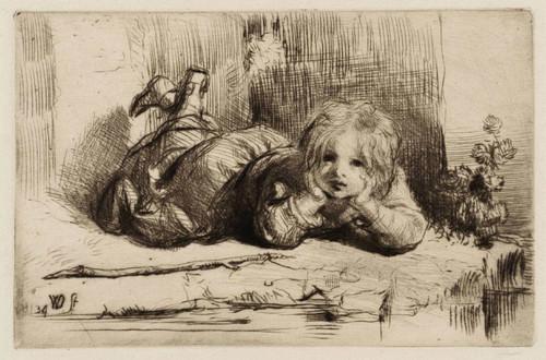 Boy Reclining By A Pool By William Dyce