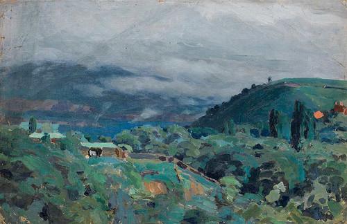 Caucasus Mountains By Viktor Elpidiforovich Borisov Musatov