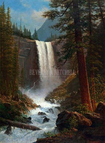 Vernal Falls by Albert Bierstadt
