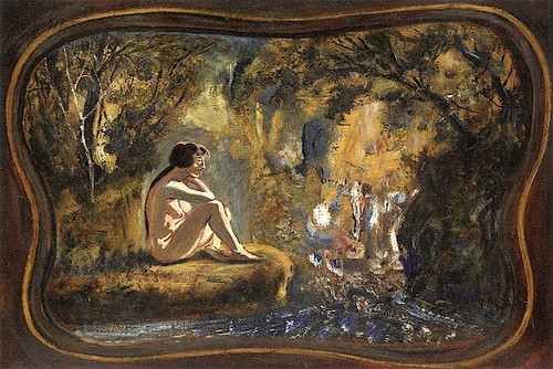 Nude In Woods By Louis M. Eilshemius
