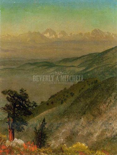 Wasatch Mountains by Albert Bierstadt