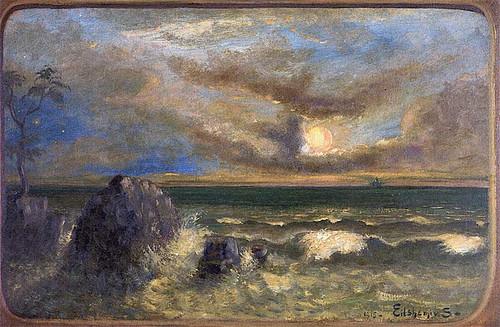 Tropical Ocean By Louis M. Eilshemius
