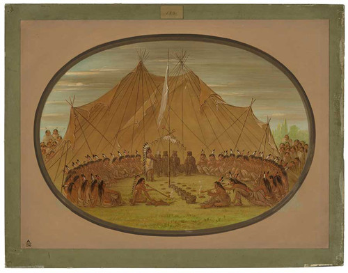 A Dog Feast   Sioux By George Catlin