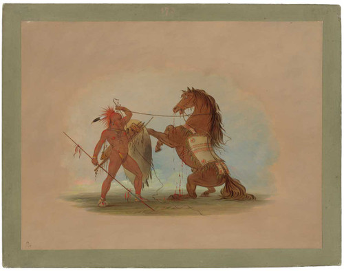 A Pawnee Warrior Sacrificing His Favorite Horse By George Catlin