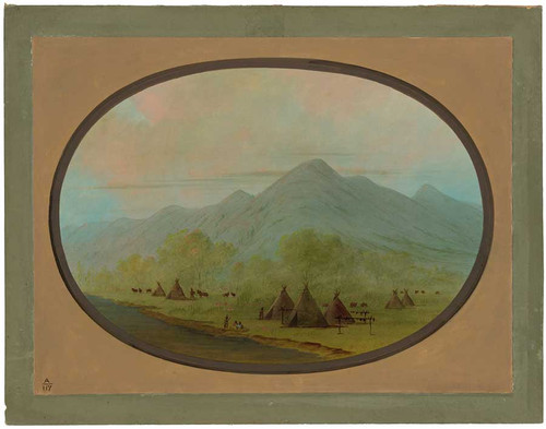 A Small Crow Village By George Catlin