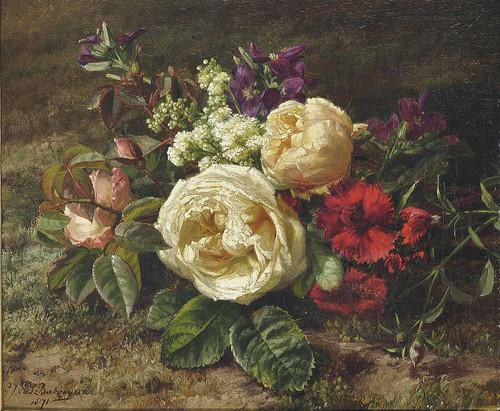 A Summer Bouquet By Geraldine Jacoba Van De Sande Bakhuyzen