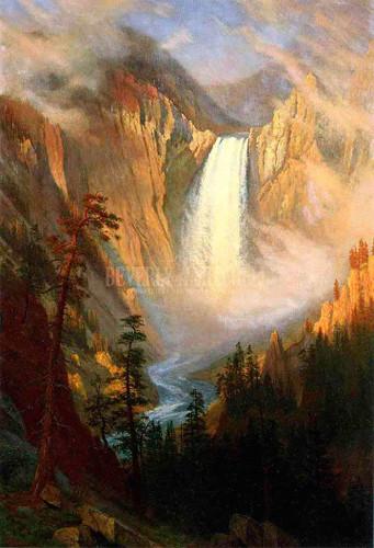 Yellowstone Falls by Albert Bierstadt