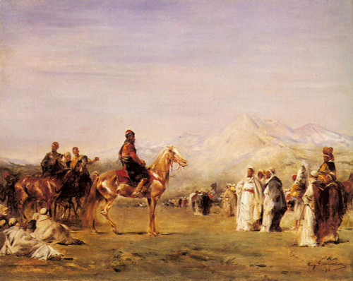 Arab Encampment In The Atlas Mountains By Eugene Fromentin