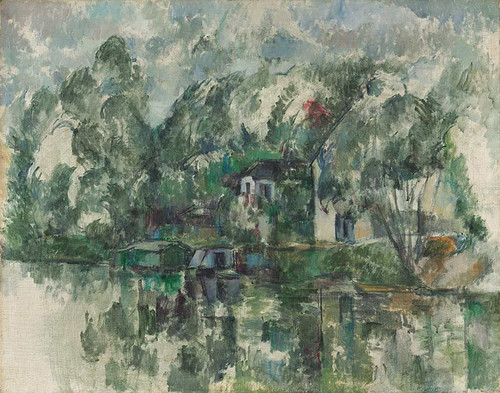 At The Water's Edge By Paul Cezanne