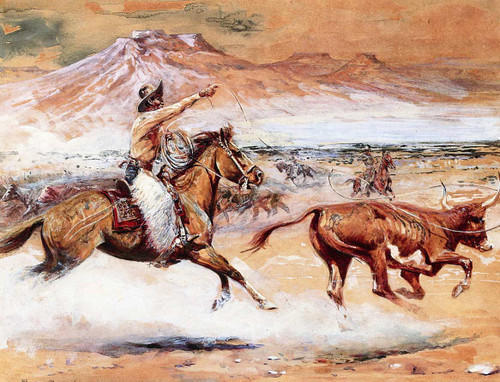 Cattle Roundup By Edward Borein