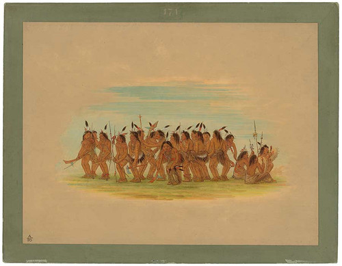 Dog Dance   Sioux By George Catlin