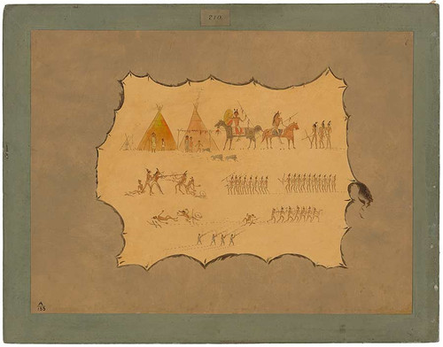 Facsimile Of A Cheyenne Robe By George Catlin