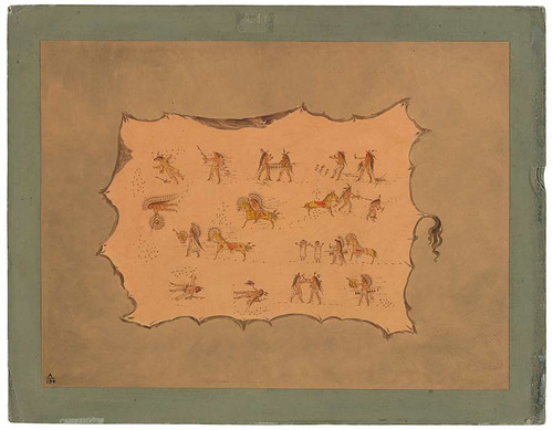 Facsimile Of The Robe Of Mah To Toh Pa   Mandan By George Catlin