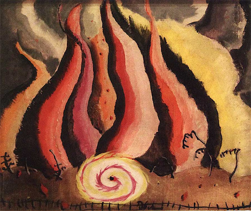 Fire In The Sauerkraut Factory By Arthur Dove