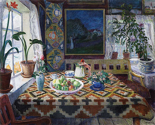 Interior Still Life Living Room At Sandalstrand By Nicolai Astrup