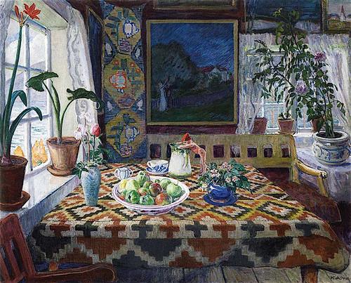 Interior Still Life Living Room At Sandalstrand By Nicolai Astrup