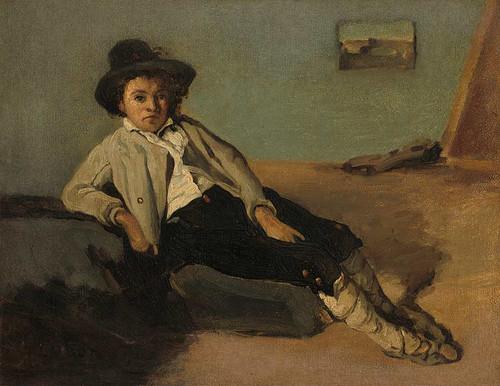 Italian Peasant Boy By Jean Baptiste Camille Corot