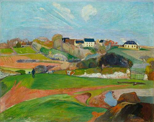 Landscape At Le Pouldu By Paul Gauguin