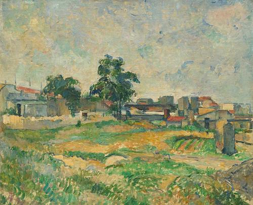 Landscape Near Paris By Paul Cezanne