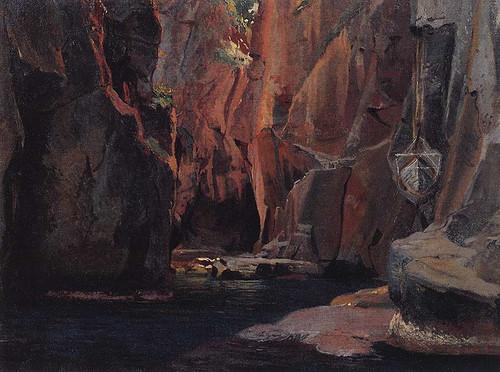 Mountain Gorge In Carrara By Nikolai Nikolaevich Ge