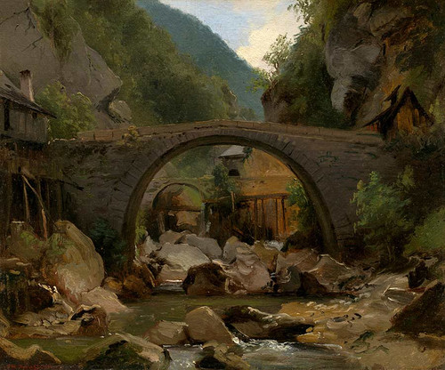 Mountain Stream In The Auvergne By Theodore Rousseau