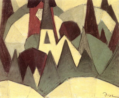 Nature Symbolized No. 3 Steeple And Trees By Arthur Dove
