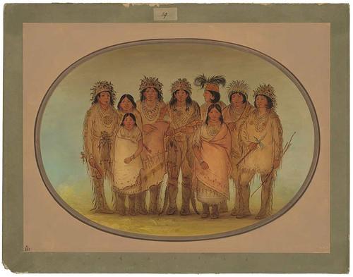 Nine Ojibbeway Indians In London By George Catlin