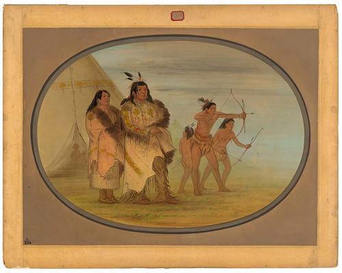 Ojibbeway Indians By George Catlin