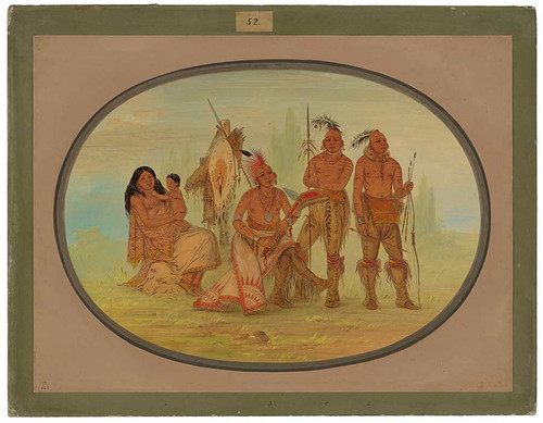 Osage Indians By George Catlin