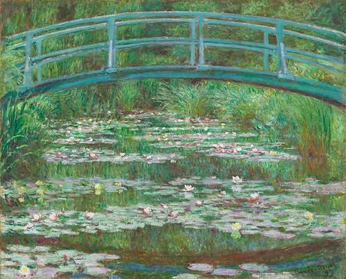 The Japanese Footbridge By Claude Monet