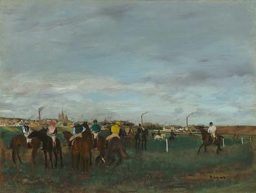 The Races By Edgar Degas