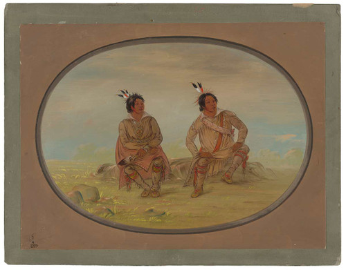 Two Choctaw Indians By George Catlin