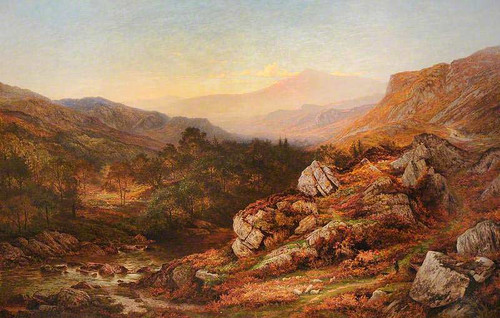 An Autumn Evening In The Valley Of The Lledr By Benjamin Williams Leader