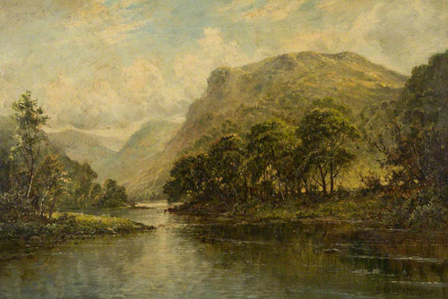 In A Welsh Valley Near Betws Y Coed By Benjamin Williams Leader