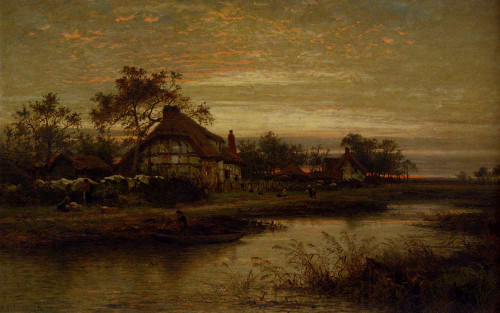 Worcestershire Cottage Homes Evening By Benjamin Williams Leader