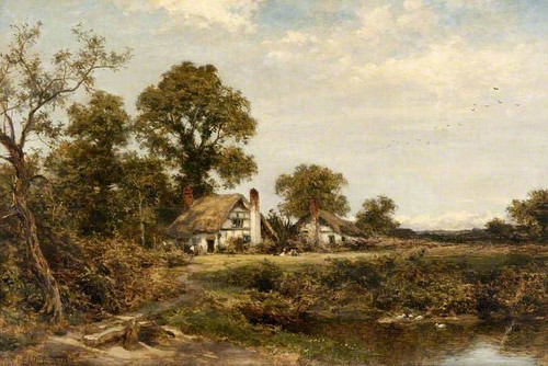 Worcestershire Cottages By Benjamin Williams Leader