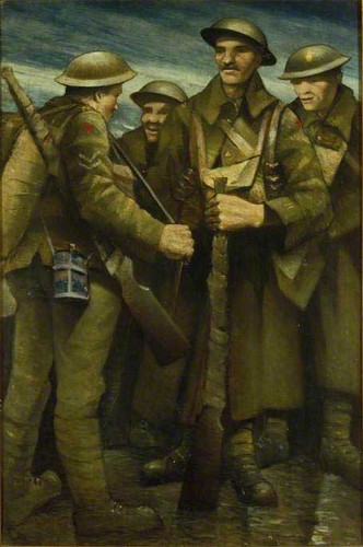 A Group Of Soldiers By Christopher Nevinson