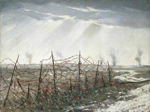 A Front Line Near St Quentin By Christopher Nevinson