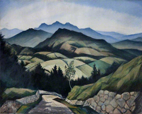 A Mountain Landscape In Wales By Christopher Nevinson