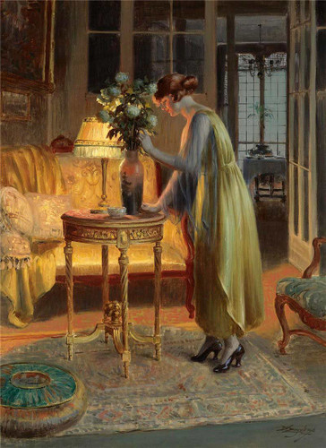 Arranging Flowers By Delphin Enjolras