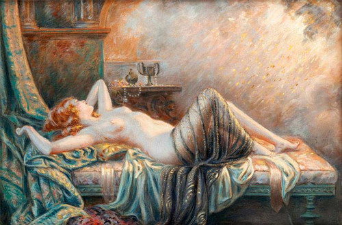 Young Woman On The Sofa By Delphin Enjolras
